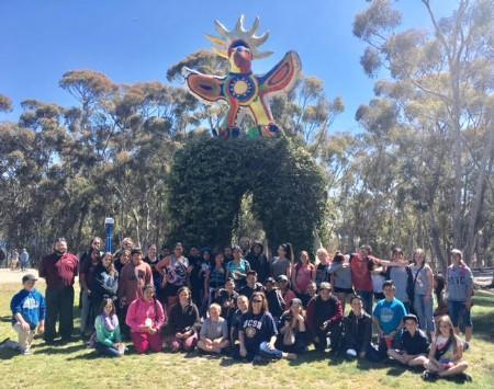 Students at UCSD field trip