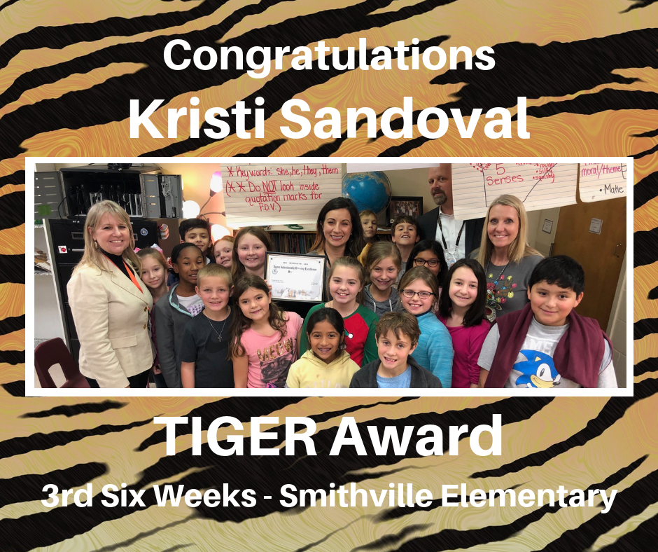 Kristi Sandoval TIGER Award Recipient