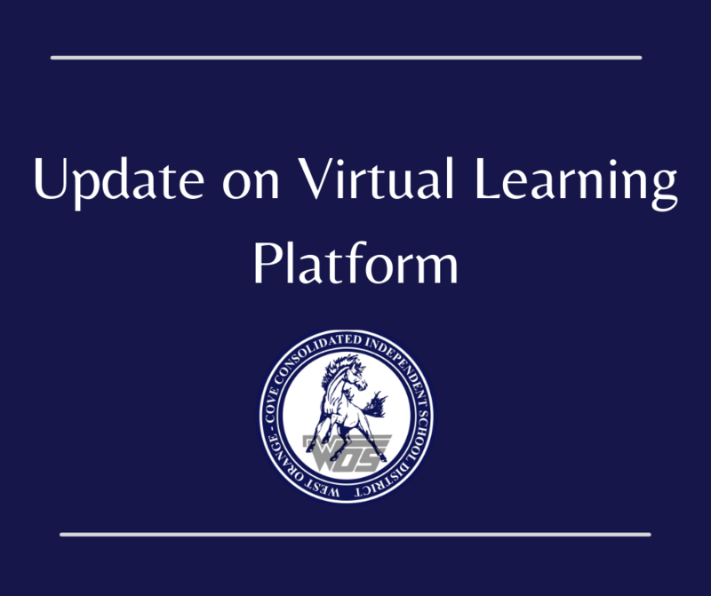 update on virtual learning graphic