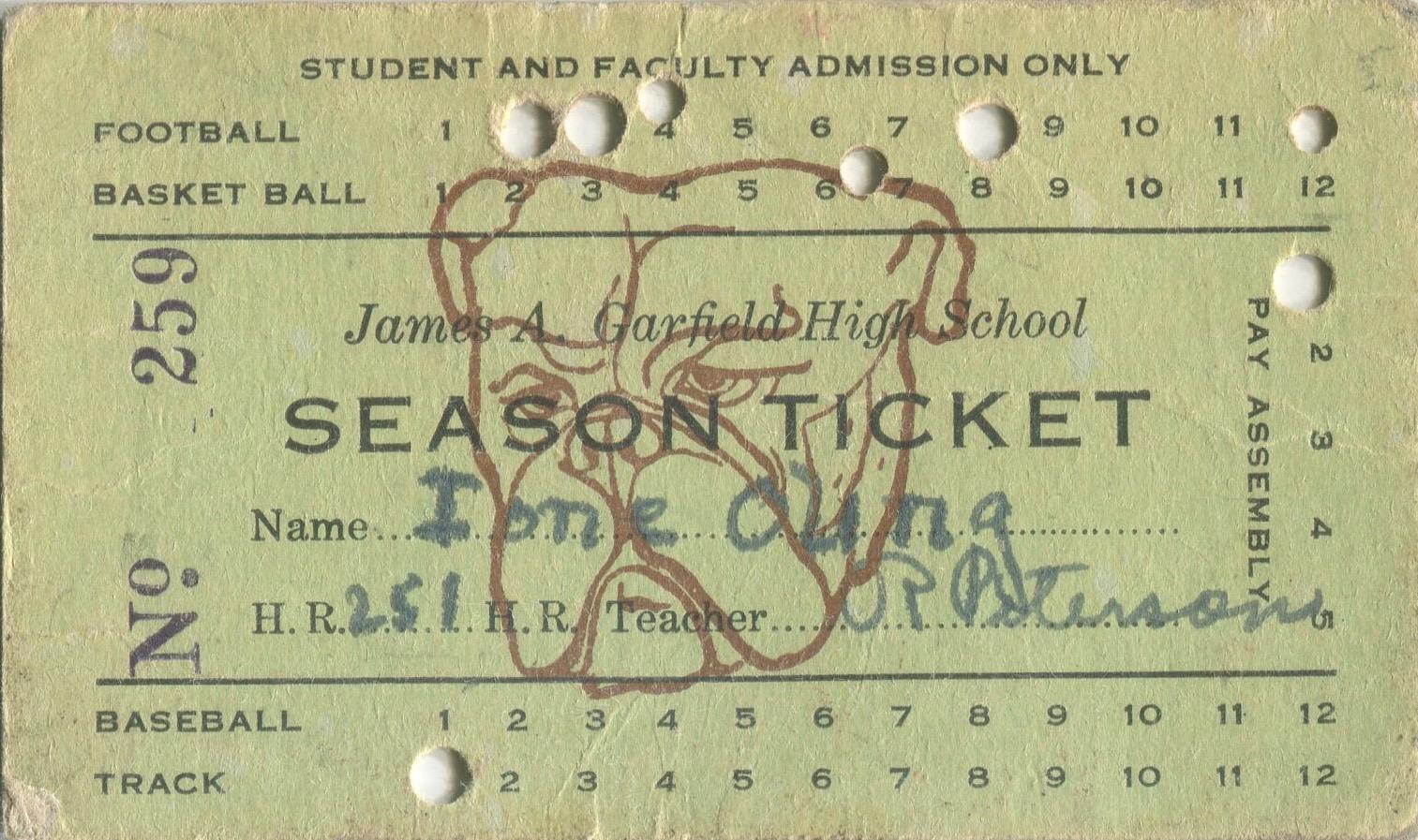 Garfield Season Ticket