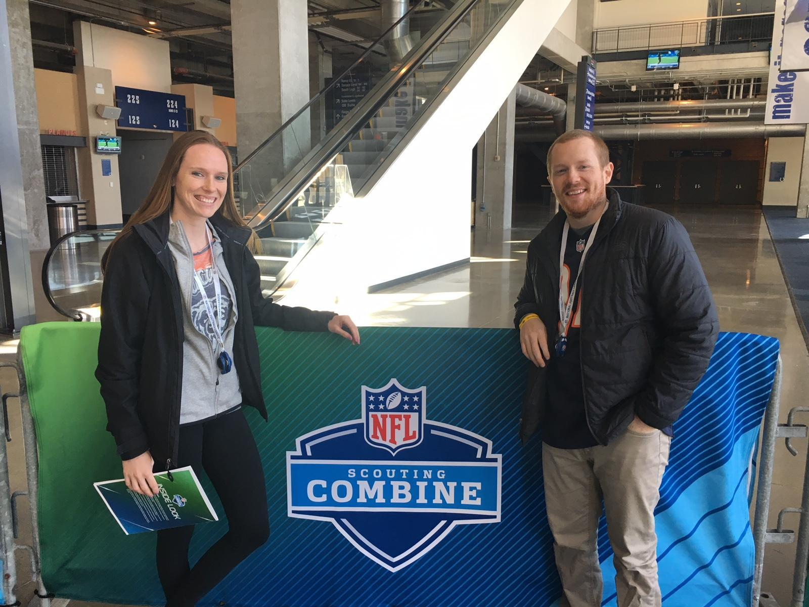 At the NFL Combine