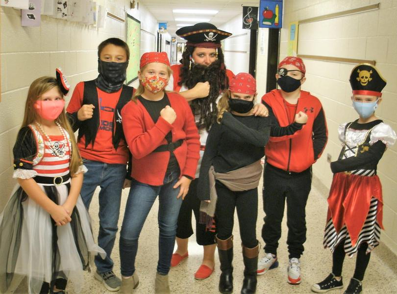Mrs. Gregg's students dressed as pirates for