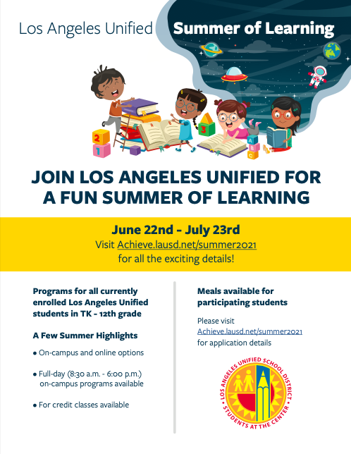 Los Angeles Unified for a Fun Summer of Learning Featured Photo