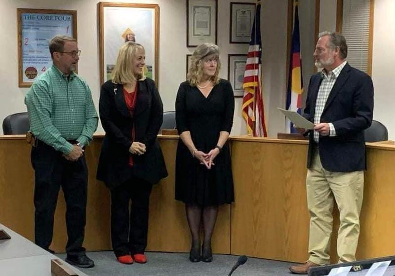 New Board Members Sworn in by outgoing President Larry Oddo