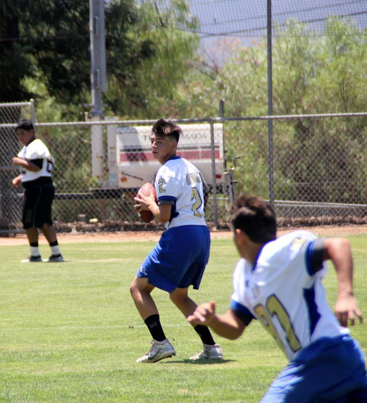 Mustang Football Team Competes in Passing League Event Featured Photo