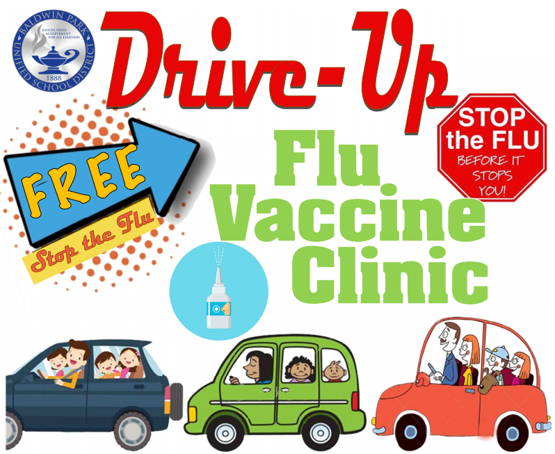 Drive-up Flu Vaccine Clinic Sign