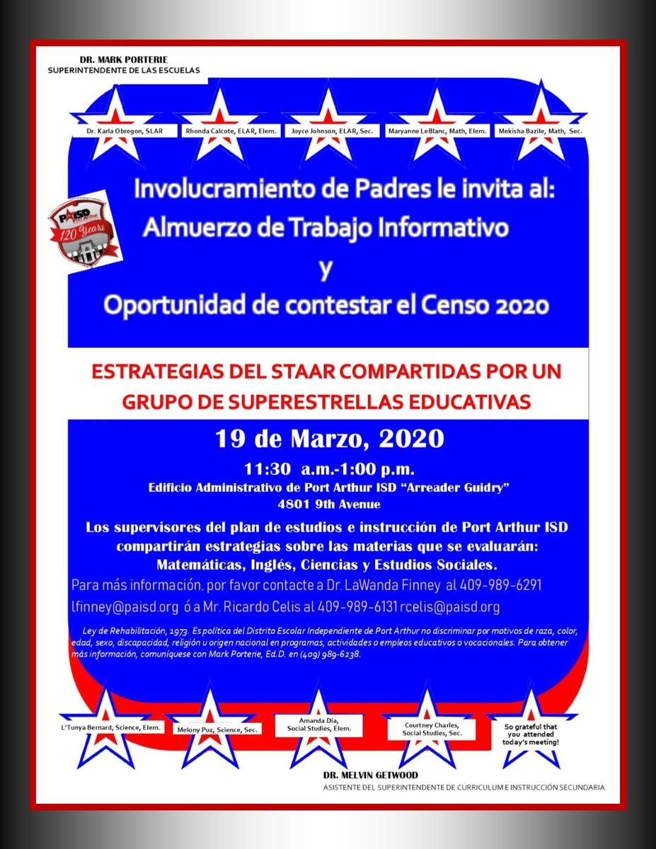 Spanish Version of March 19th Parent Meeting