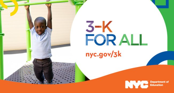 3K for all child at a playground