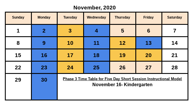 November Schedule Featured Photo