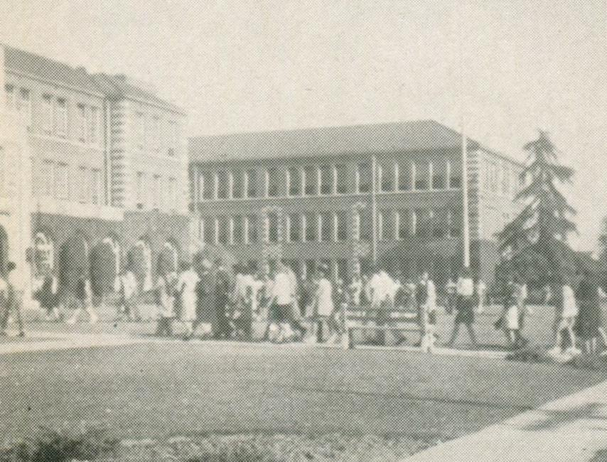 Front of the school, 1946