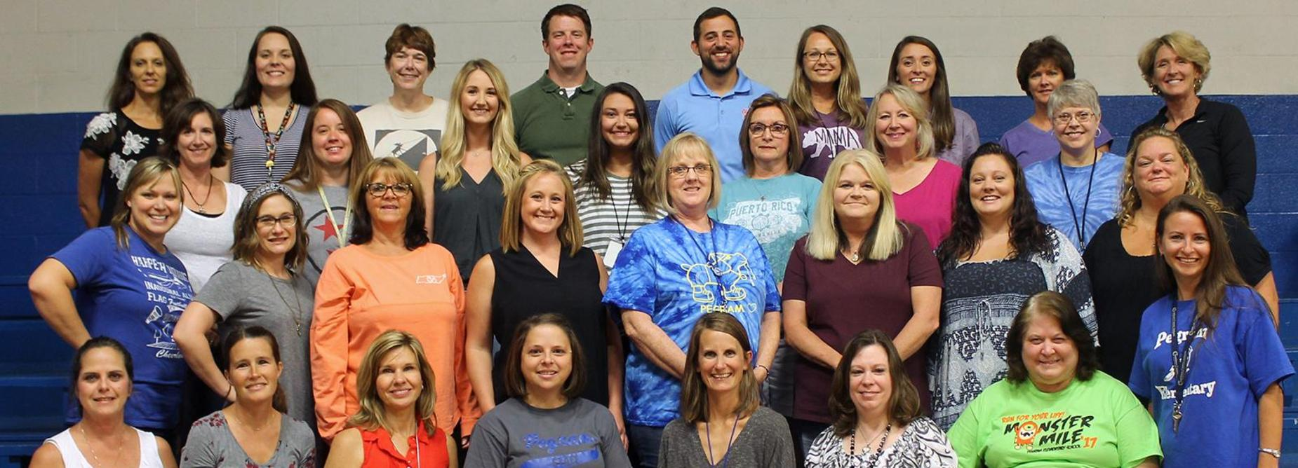 The 2018-2019 Pegram Elementary School staff.
