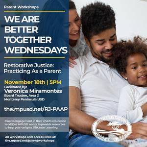 Restorative Justice Practicing as a Parent Workshop English