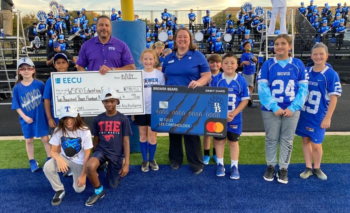 EECU donated a $2390.52 check to the WSISD Education Foundation Friday night!