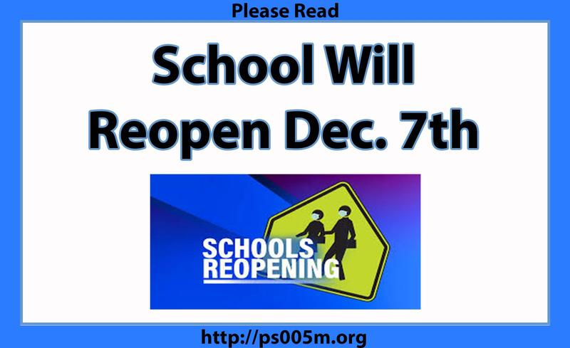 Schools Reopn December 7th Featured Photo