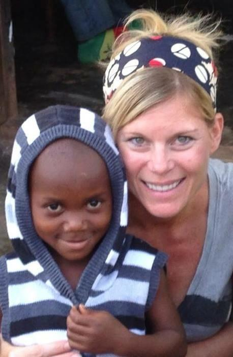 Kacey, a little girl from the village in Uganda
