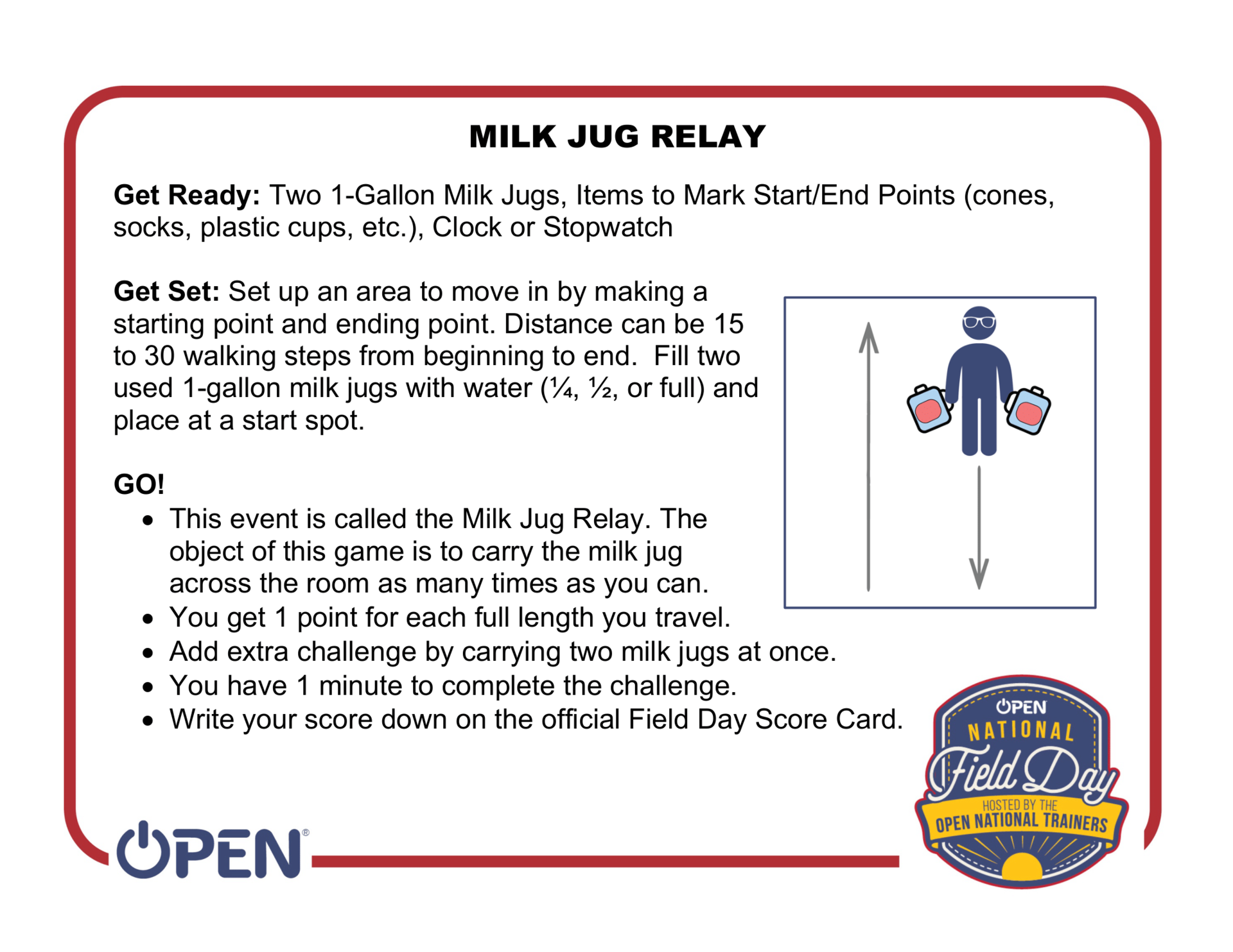 Milk Jug Relay