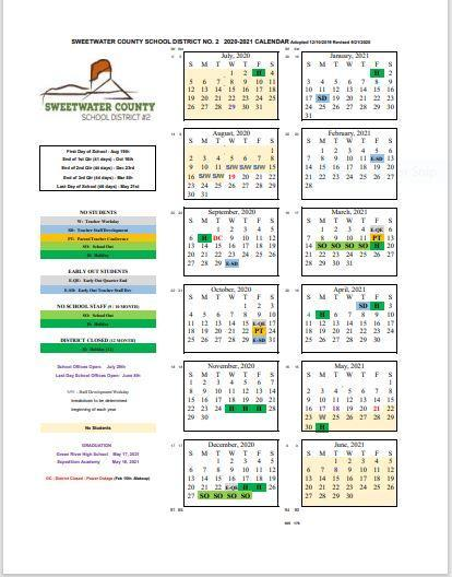 Revised 2020-202 District Calendar Featured Photo