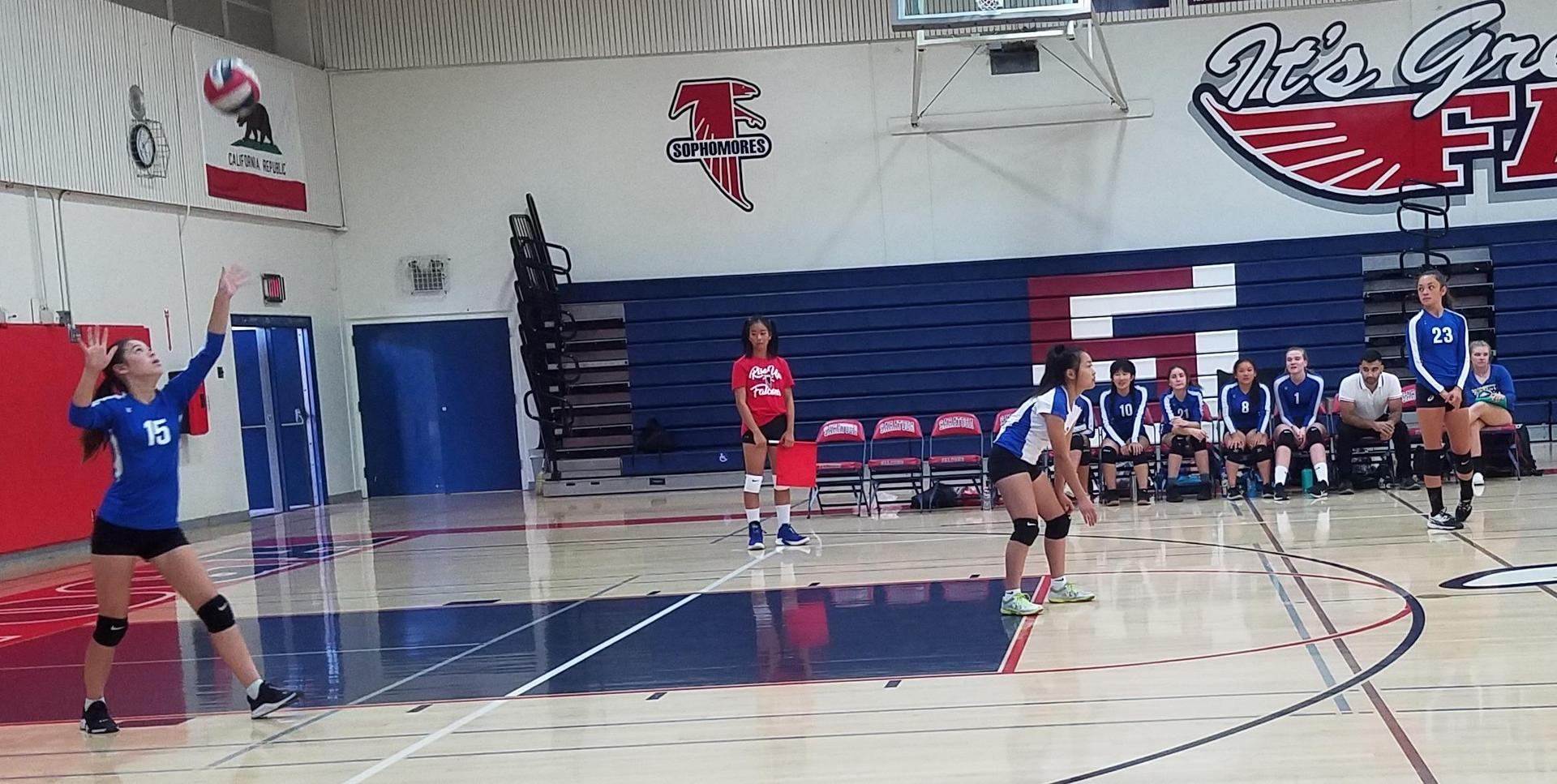 Girls volleyball at Saratoga