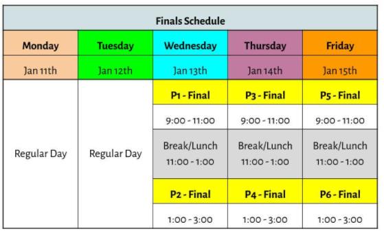 FINALS Schedule Featured Photo