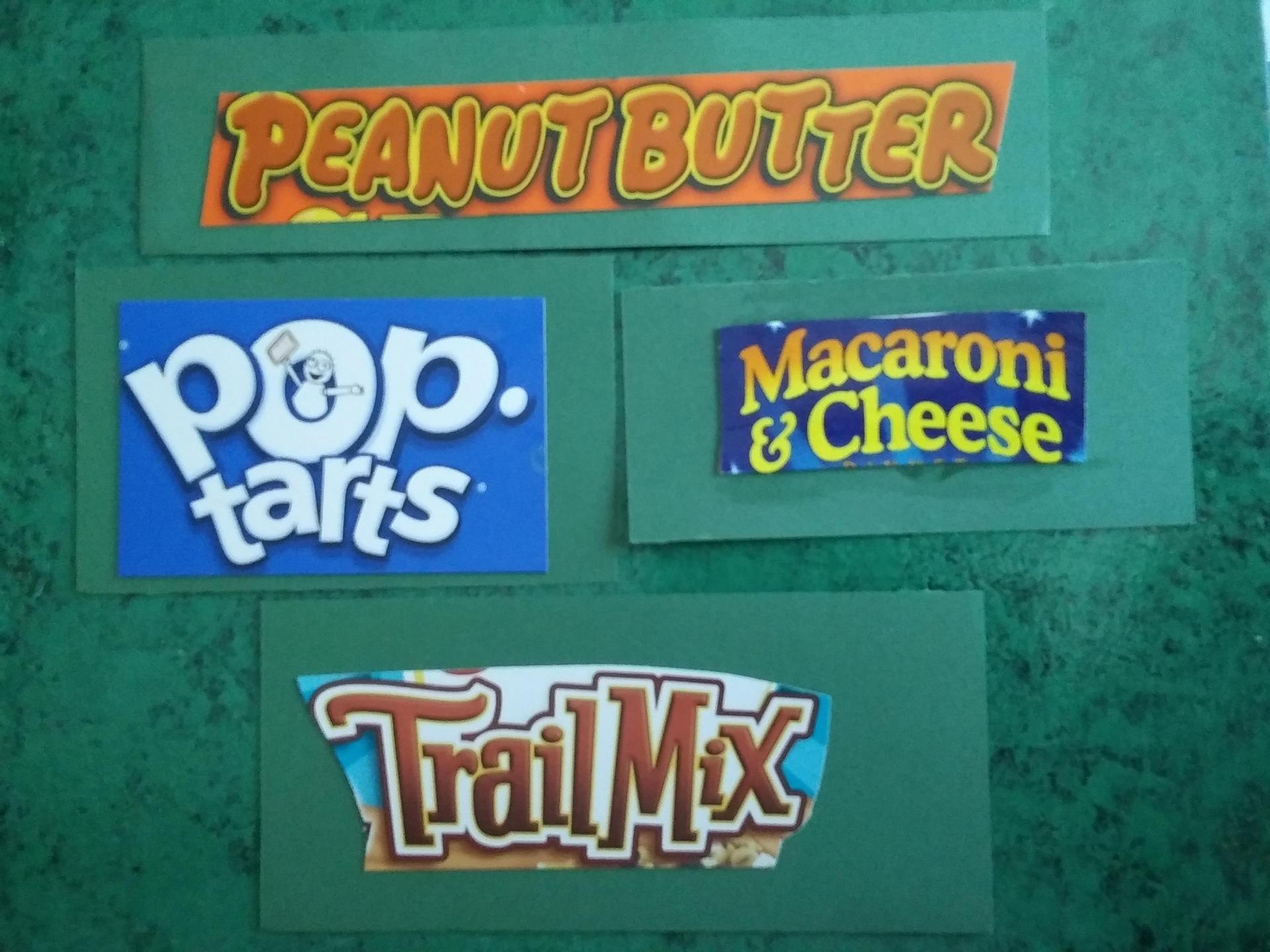 Food package names