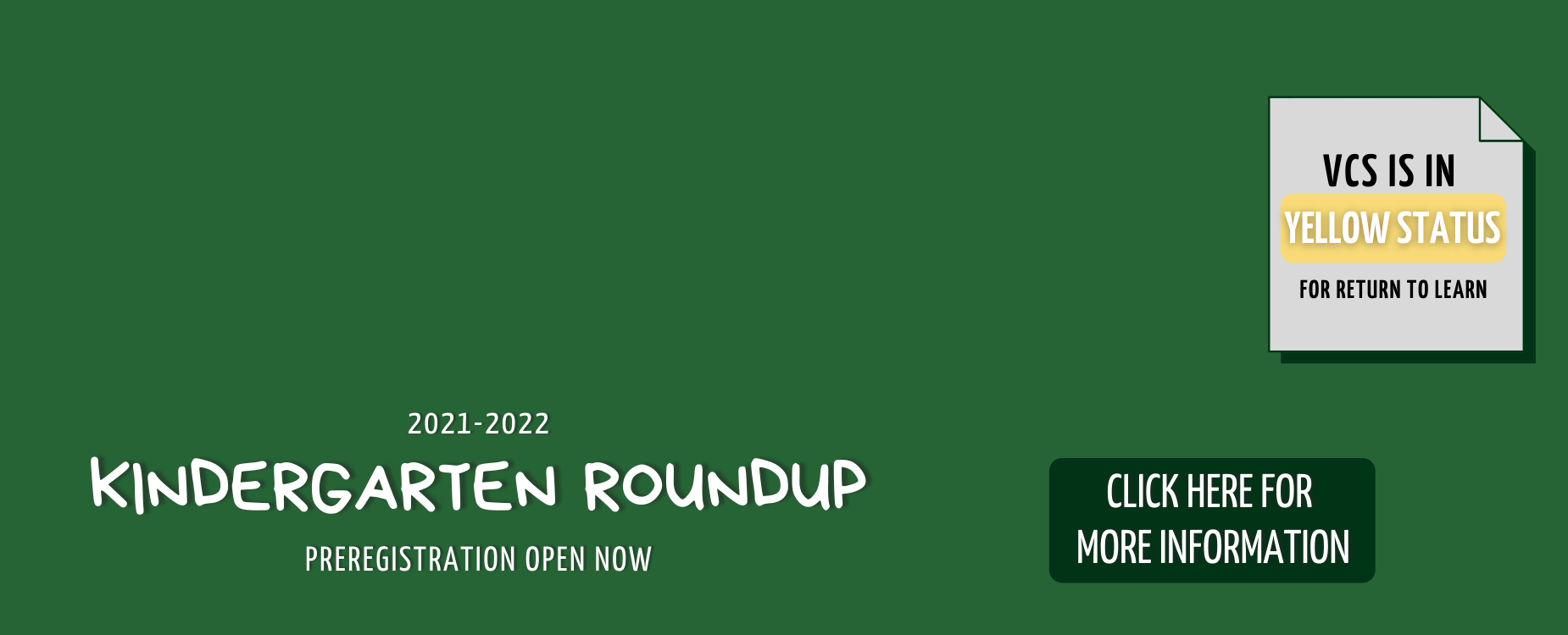 Kindergarten Roundup Preregistration Information
