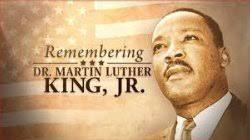 MLK Birthday Monday January 20, 2020