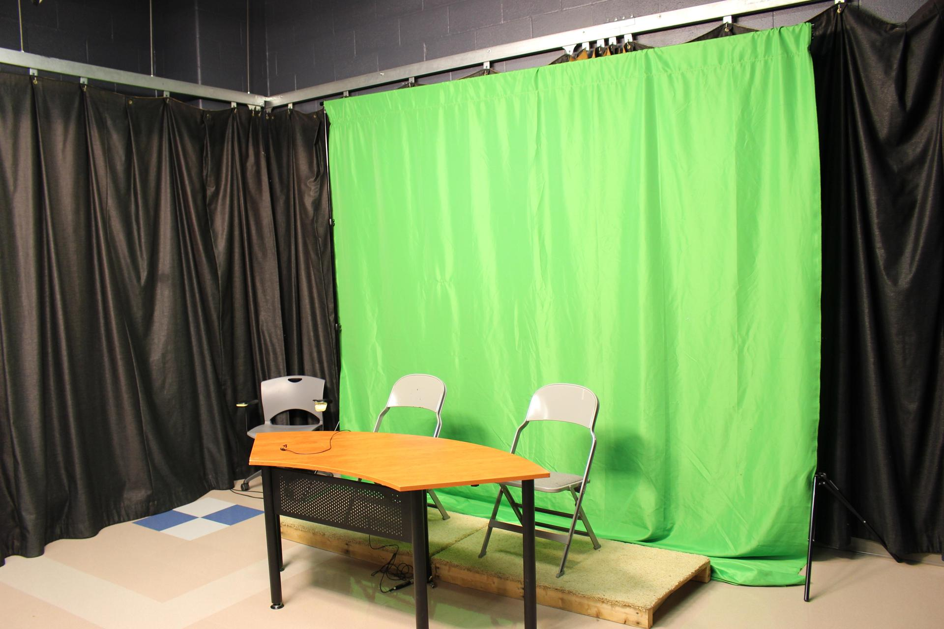 Other projects are filmed in front of our green screen so that digital effects can be used