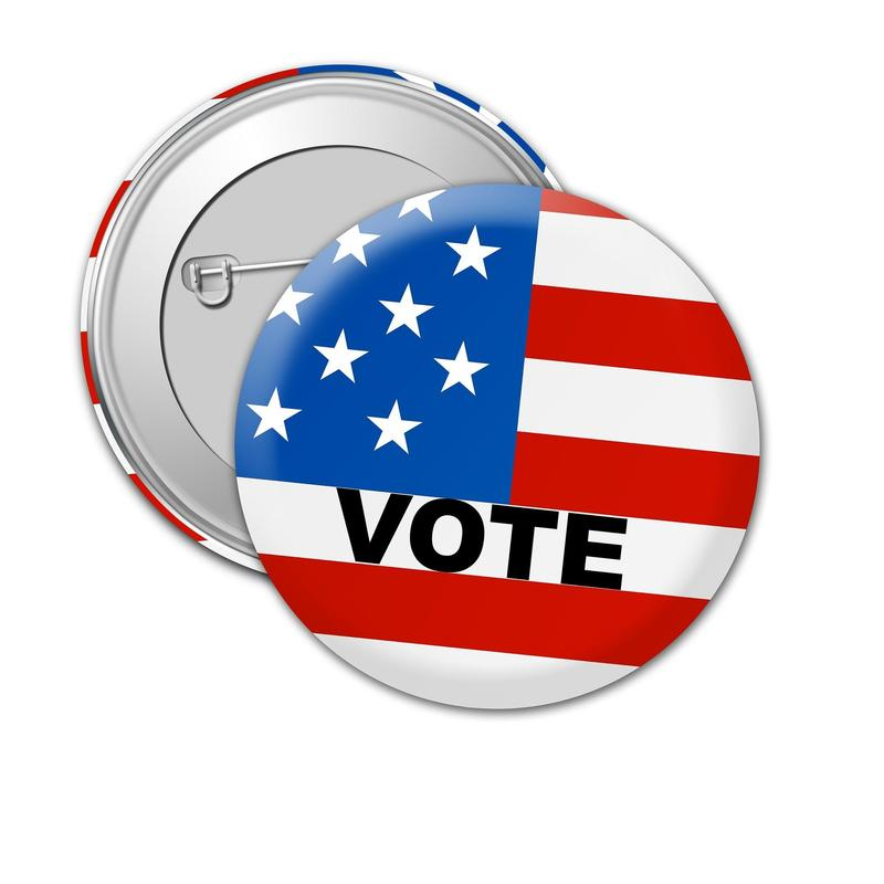 button with vote on it