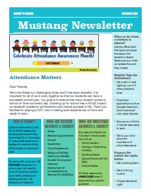 Mustang Newsletter Sept. 2020 Featured Photo