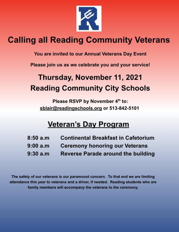 Flyer Veteran's Day