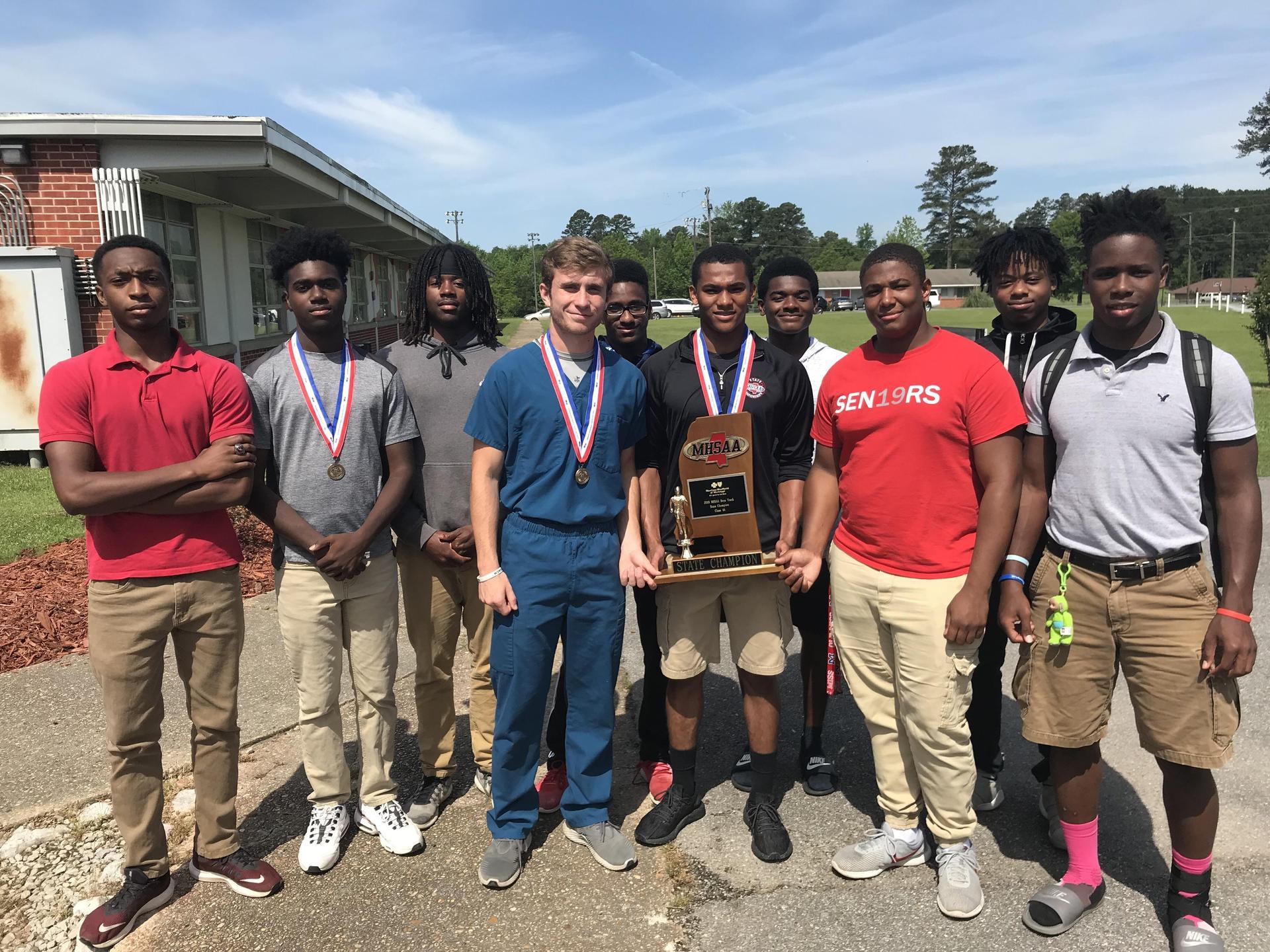 NEHS 2019 StateTrack & Field Champion Team