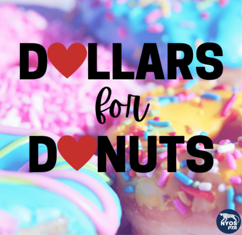 Photo of donuts with the words