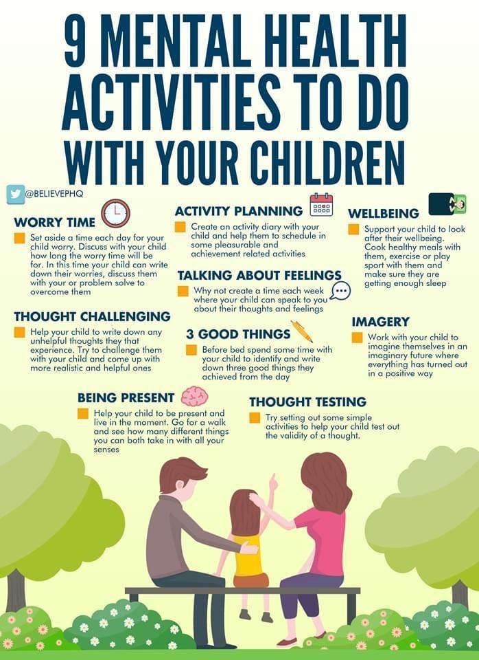 Mental Health Activities to do with Kids