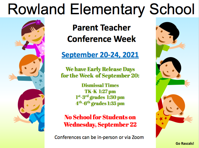 Parent Teacher Conferences, week of September 20 Featured Photo