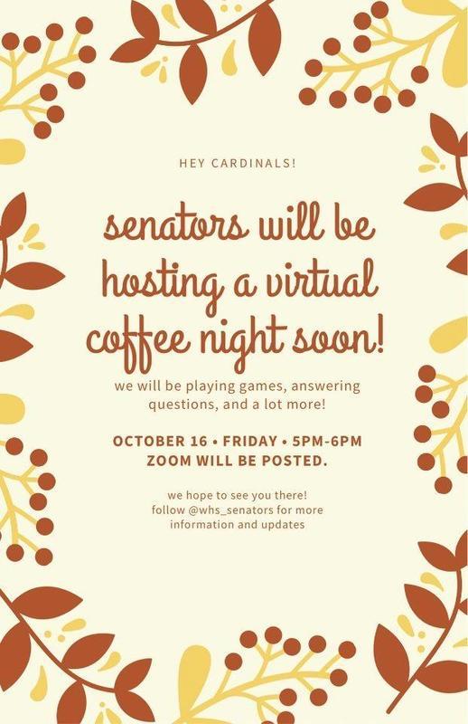 senator  coffee night 10-16-20