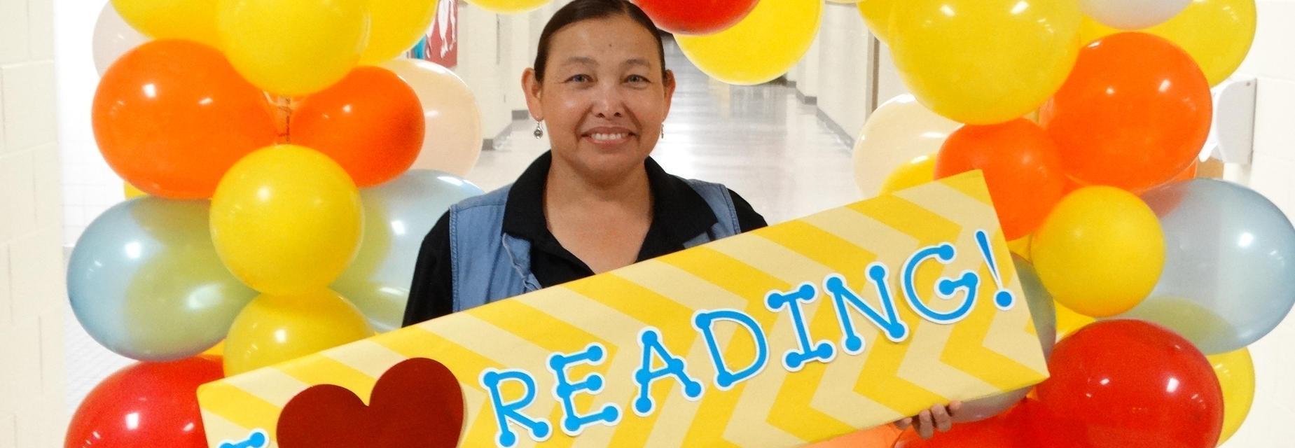 I love reading at literacy night