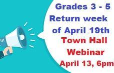 Town Hall Webinar for Grades 3-5. Featured Photo