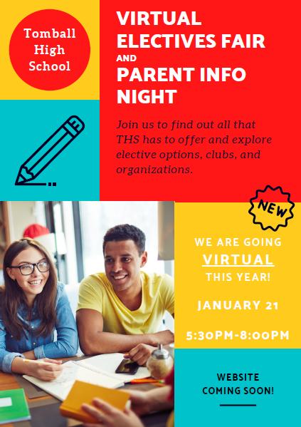 Electives Fair Parent Night Flyer