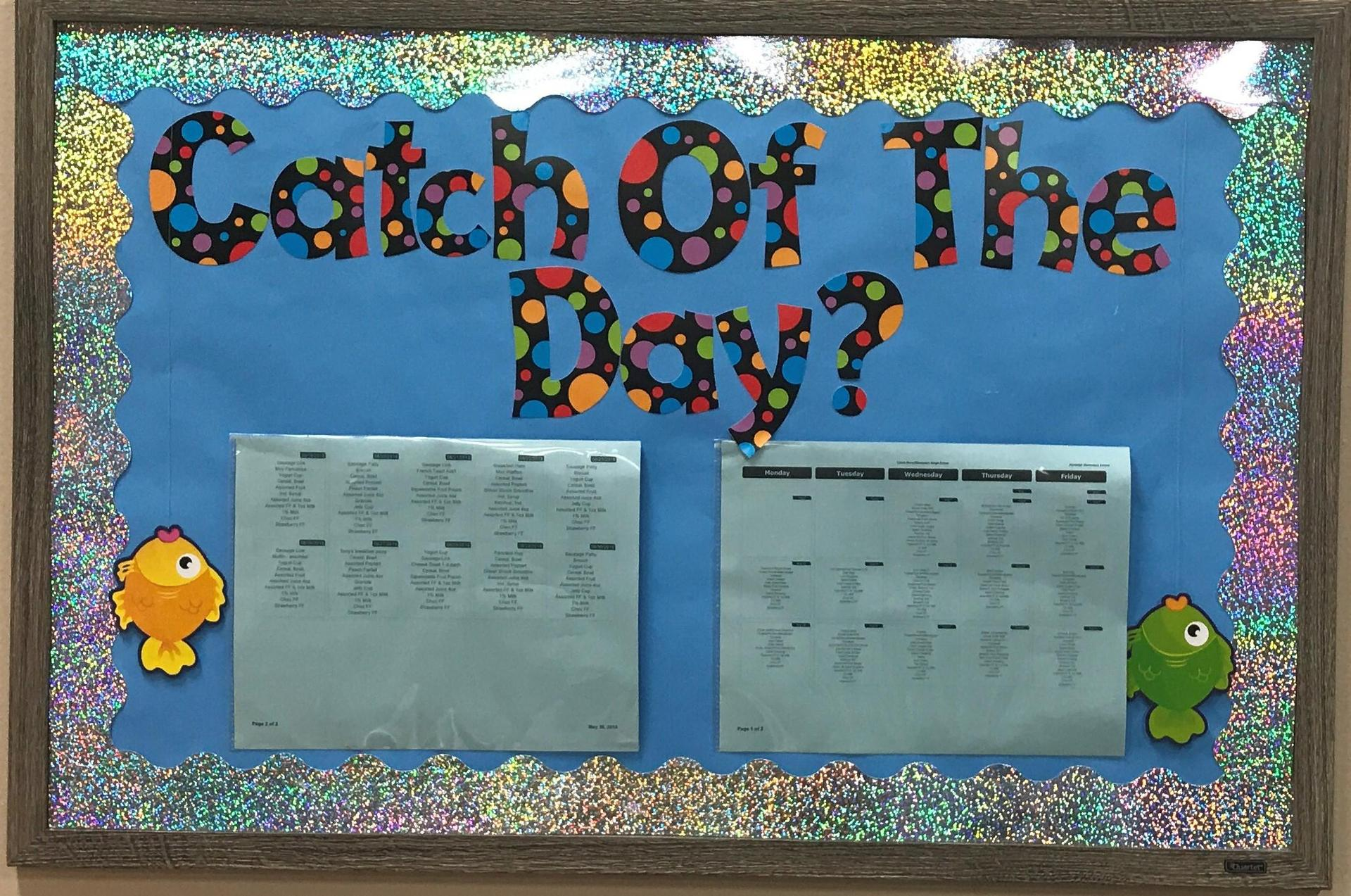Catch of the Day Bulletin Board at Randolph Elementary