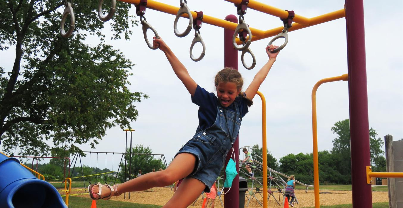 Lee students enjoy playing outside during the first days of school.