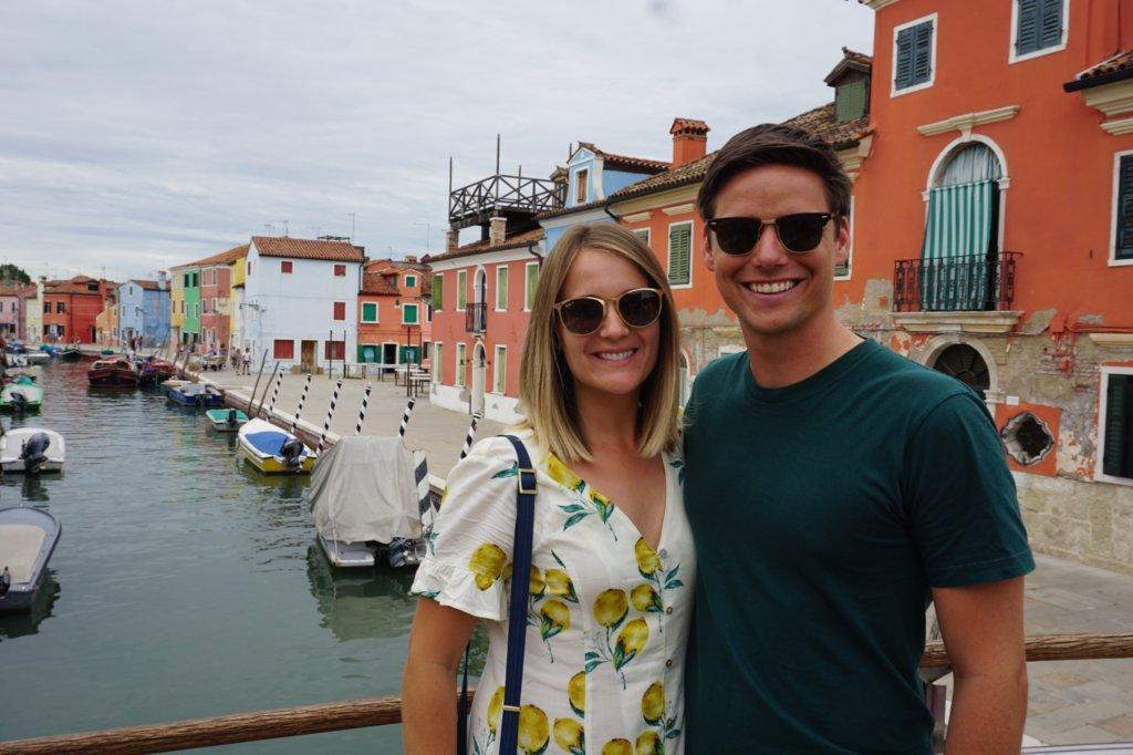 Mrs. Summers and Mr. Summers in Italy