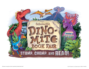 Dino-Mite Book Fair Clip Art