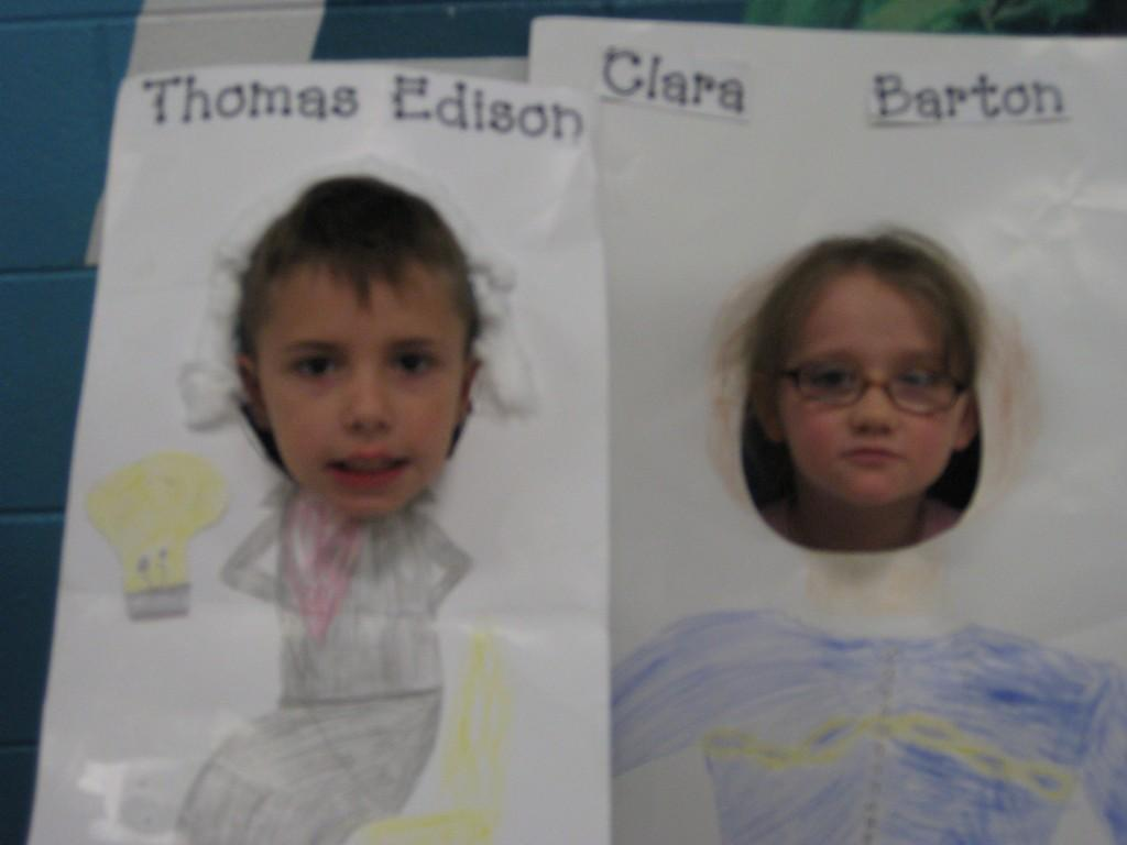 Wax Museum-Thomas Edison and Clara Barton