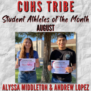 Tribe athletes of the month