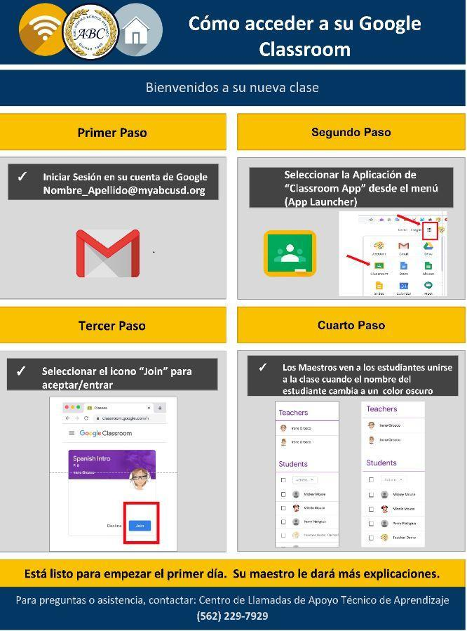 how to join Google Classroom instructions in spanish