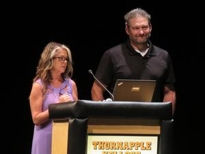 Annie Halle and Craig Stolsonburg talk about TAEF and the Barry Community Foundation.