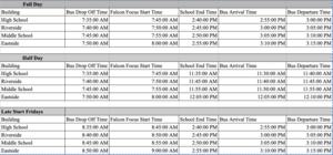 Constantine Public Schools Bell Schedule