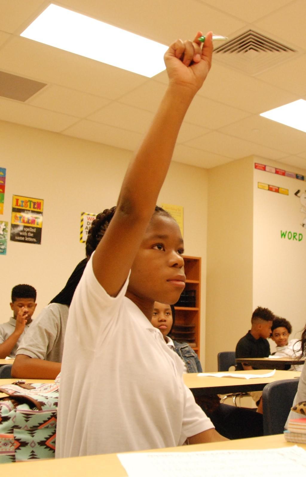 Raised hand, question - Elite Academy, 2016-17