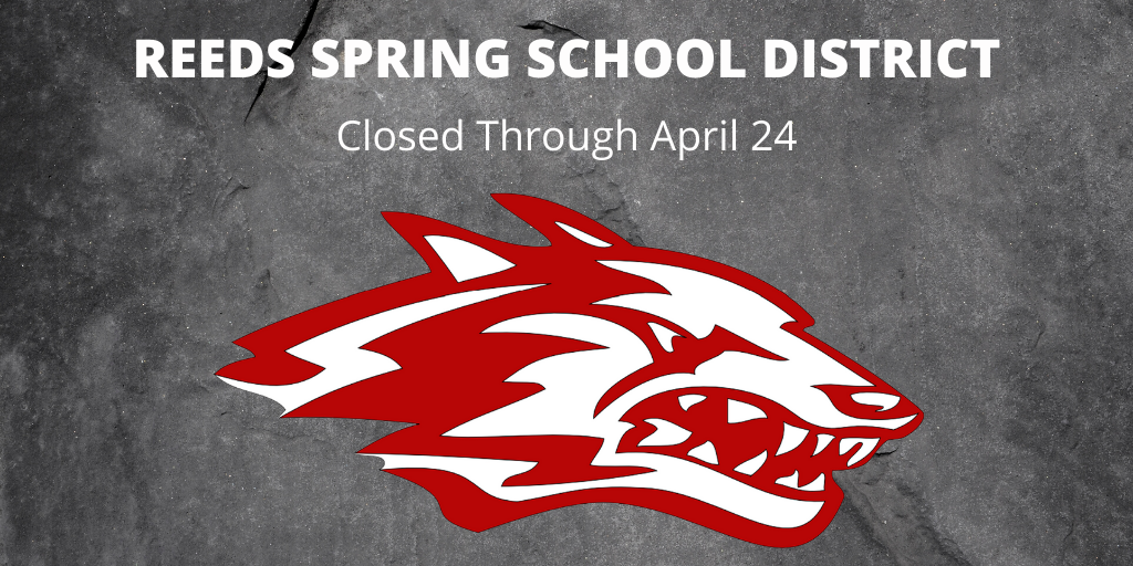 wolf logo with words closed through april 24