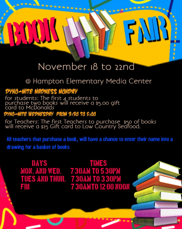 HES Book Fair November 18th-22nd